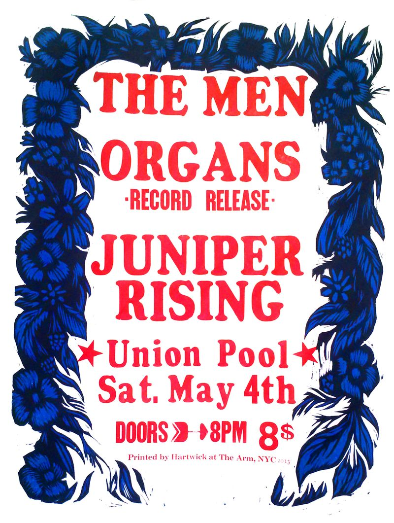 The men - organs - juniper rising show poster