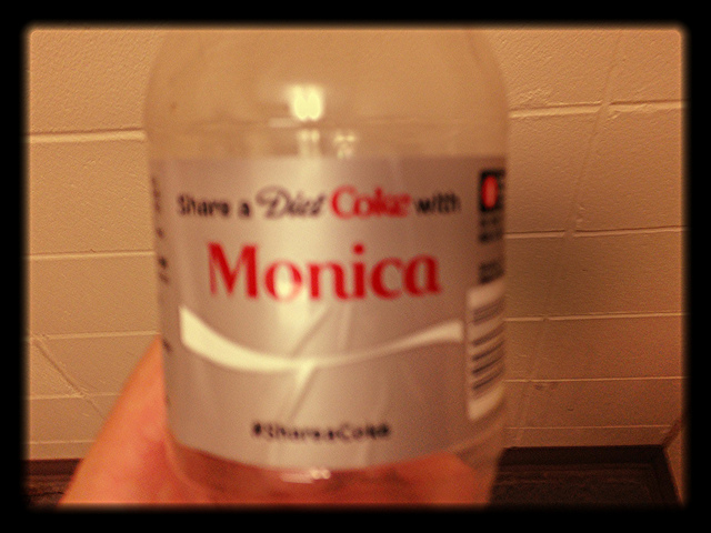 Monica diet coke